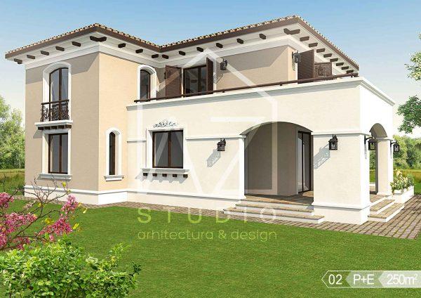 Casa eleganta cu etaj 250mp