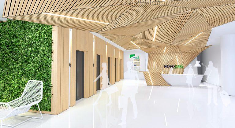 Proiect amenajare pentru receptie cladire de birouri in Bucuresti - concurs de design interior