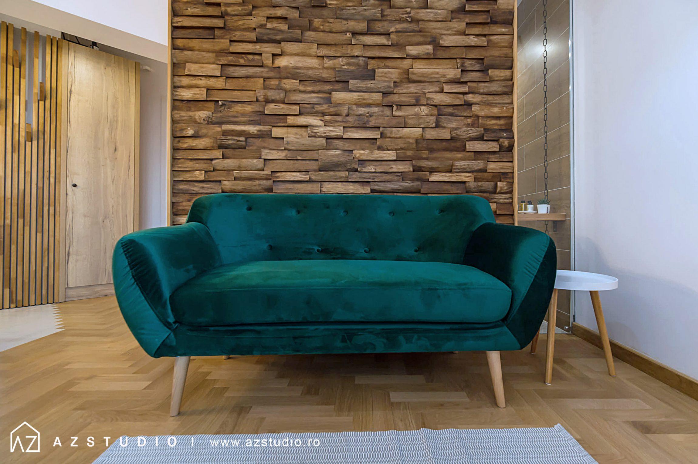 Amenajare studio de vacanta regim hotelier 23mp in Brasov, Romania