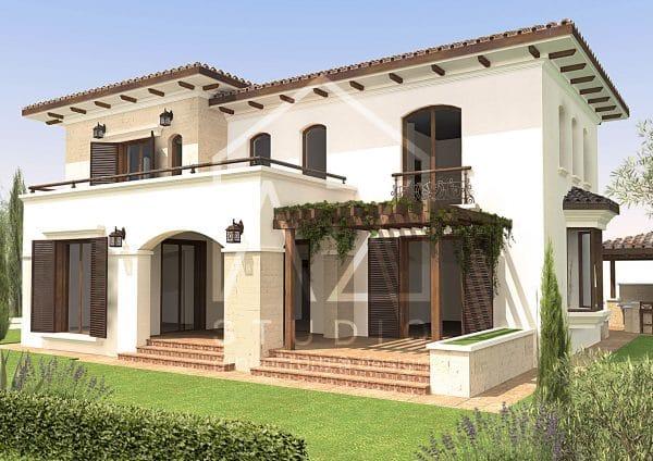 Casa mediteraneana cu etaj 325mp proiect gata achizitionabil imediat