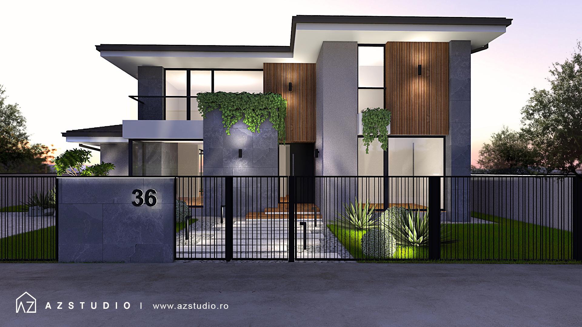 Casa moderna parter si etaj, suprafata construita totala 228mp.