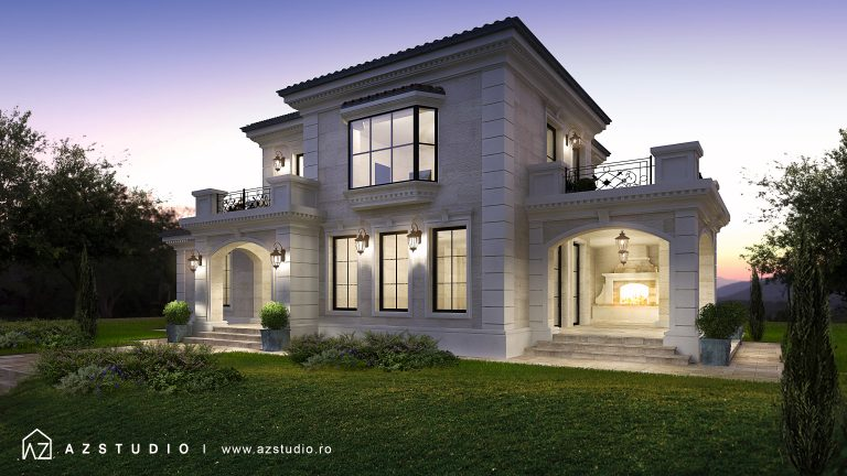 Casa cu etaj in stil clasic 250mp