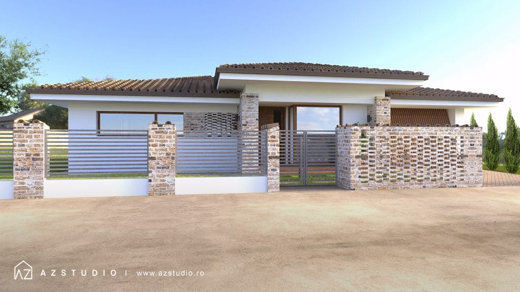 Casa moderna parter cu garaj