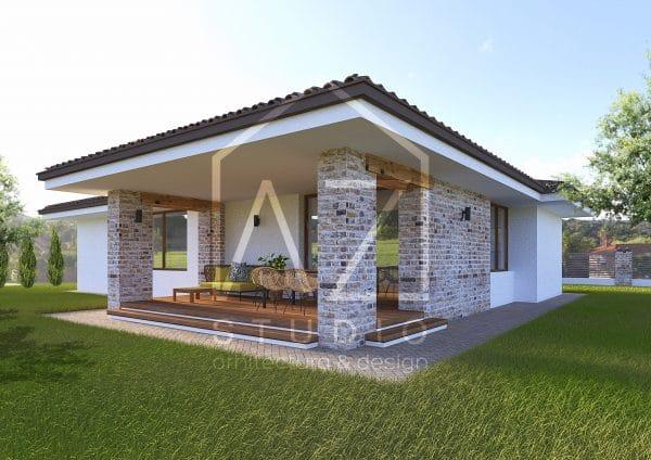 Casa mediteraneana parter cu garaj 158mp