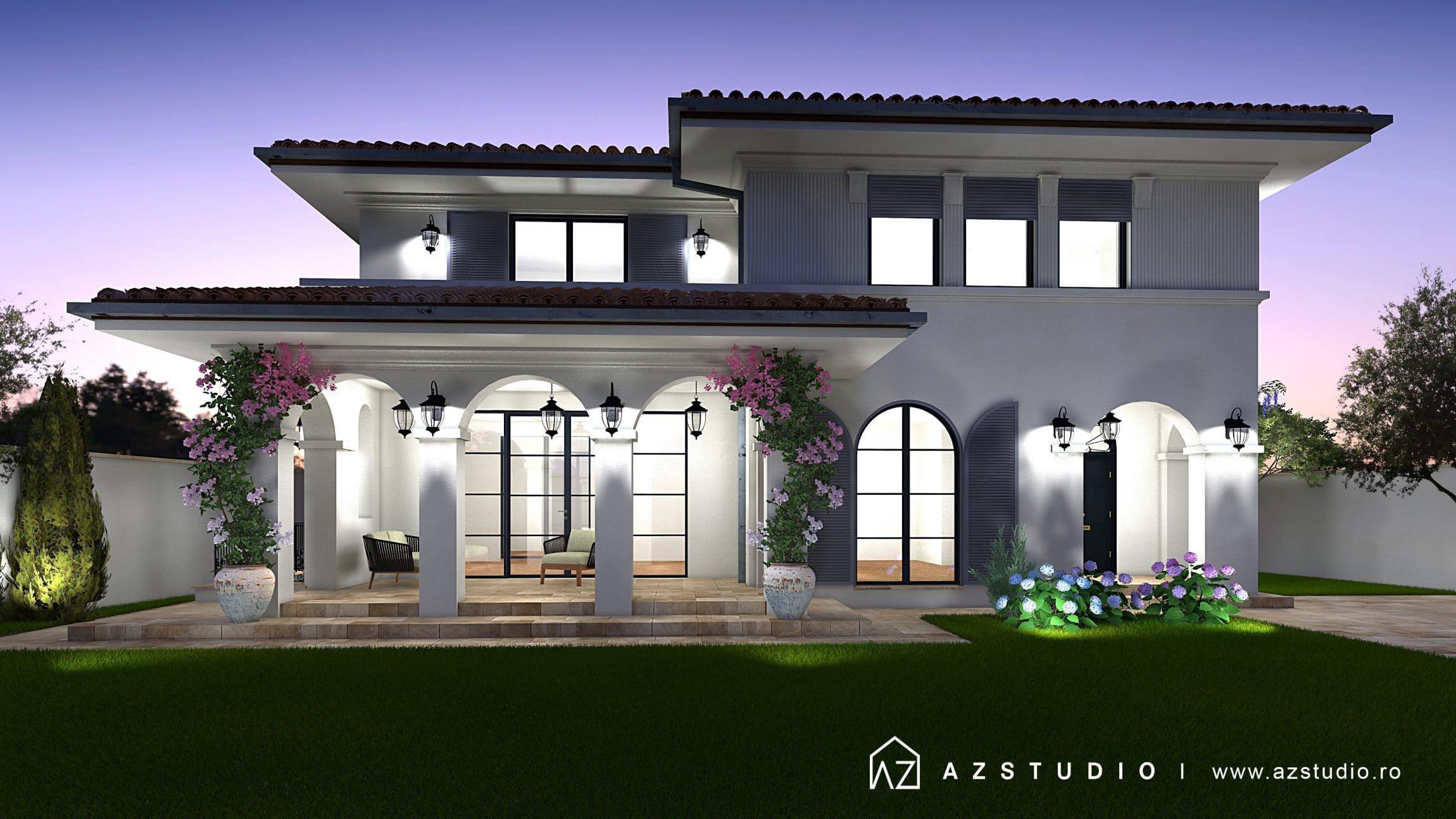 Casa eleganta stil clasic cu etaj in oras 289mp